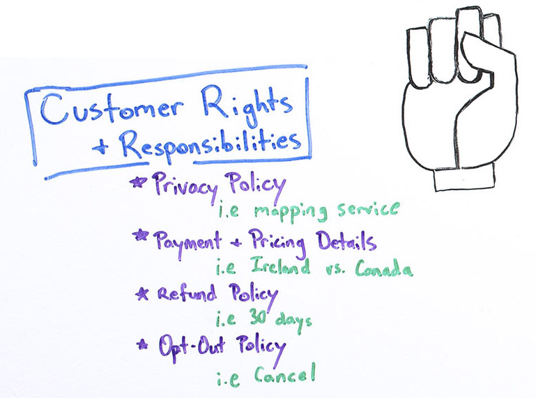 Customer rights and responsibilities