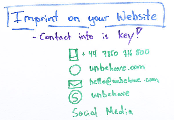 Imprint on your website