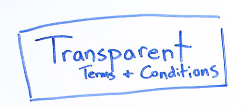 transparent terms and conditions